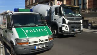 German Police vehicle in city of Berlin