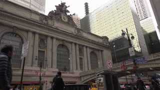 Grand Central Station New York City exterior daylight shot 4k