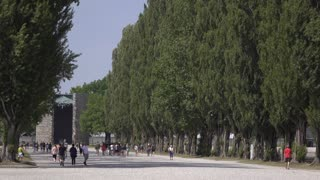 Ground of Dachau Concentration camp 4k