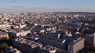 Heavily populated downtown city area of Paris France 4k