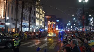 Hermes parade going Canal street at night
