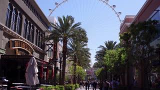 High Roller ferris wheel downtown Vegas tilt establishing 4k