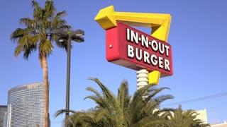 In N Out Burger in downtown Las Vegas 4k