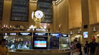Information booth at Grand Central Terminal of NYC 4k
