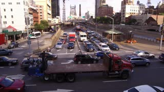 Intersection in front of the Queensboro Bridge NYC