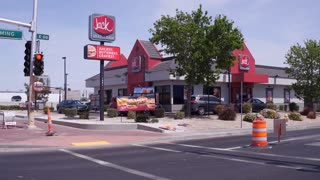Jack In the Box Building exterior downtown Las Vegas