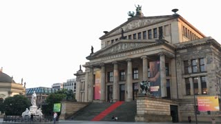 Konzerthaus Berlin with visitors taking pictures exterior