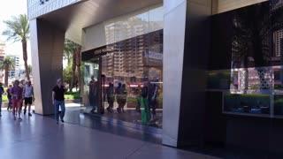 Louis Vuitton store exterior downtown Las Vegas 4k