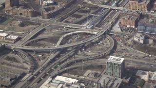 Major highway interchange in downtown Chicago