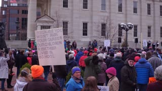 March for our lives at courthouse square in Dayton Ohio 4k