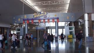 McCarran International airport Welcome to Las Vegas sign 4k