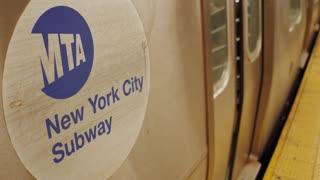 MTA NYC Subway leaving Union Square Station 4k