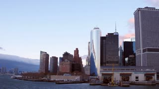 New York City skyline seen from water