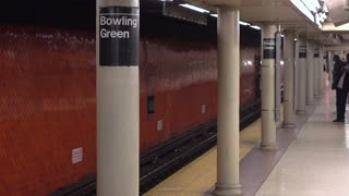 New York City Subway stop at Bowling Green 4k