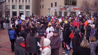 People Beginning To Gather At The March For Our Lives Event Dayton Ohio 2018 4K