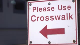 Please Use Crosswalk sign 4k
