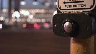 Push button at intersection for pedestrians to cross 4k