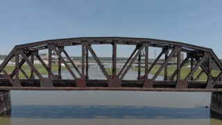 Reveal of bridge over Miami River in downtown Dayton