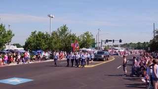 ROTC marching in July 4th Parde 4k
