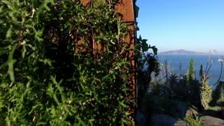 San Francisco bay with Golden Gate Bridge reveal shot