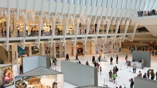 Shoppers at the Westfield World Trade Center mall