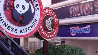 Signs for fast food restaurants in Las Vegas 4k
