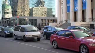 St Louis downtown city traffic establishing shot 4k