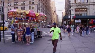 Street food vendor in downtown Manhattan