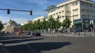 Street traffic in downtown Berlin Germany