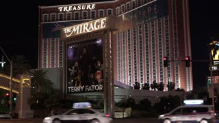 The Mirage Exterior Hotel establishing shot Las Vegas 4k