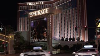 The Mirage Exterior Hotel establishing shot Las Vegas 4k