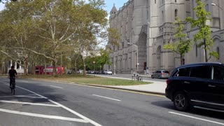 The Riverside Church Gothic cathedral in New York City 4k