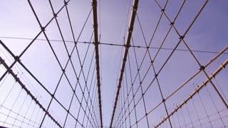 Tourists walking on Brooklyn Bridge