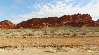 Valley of Fire driving view through mountains