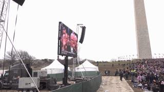 Washington Monument grounds view of 2017 inauguration 4k