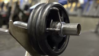 Weight lifting equipment at gym 4k