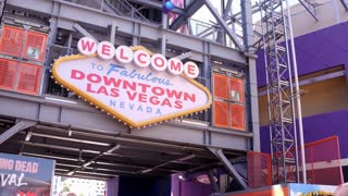 Welcome to Fabulous Downtown Las Vegas sign 4k