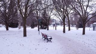 Winter at Niagara Falls State park location 4k