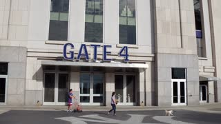 Yankee Stadium exterior establishing shot in the Bronx New York City 4k