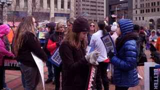 Young supporters at the March for Our Lives event in Dayton Ohio 4k