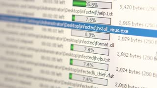 Virus installer being uploaded to computer