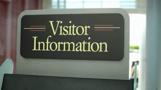 Visitor information kiosk sign
