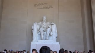 Visitors at the Lincoln Memorial Washington DC 4k
