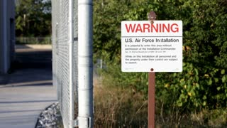 Warning Sign at Entrance of air force installation