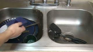 Washing Bowl in Kitchen Sink