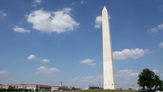 Washington Monument on Blue Sky