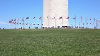 Washington Monument on sunny day tilt shot