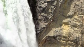 Water coming down mountain slow motion