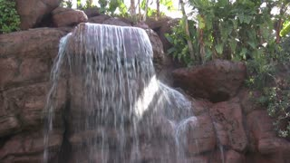 Water Falling down Waterfall