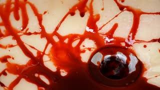 Water in sink rinsing blood down drain 4k